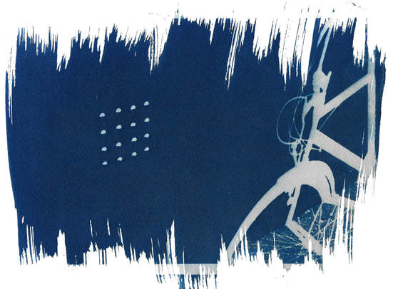 alchemical process photography cyanotype bicycle