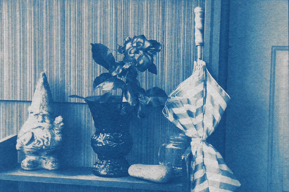 alchemical process photography cyanotype gnome