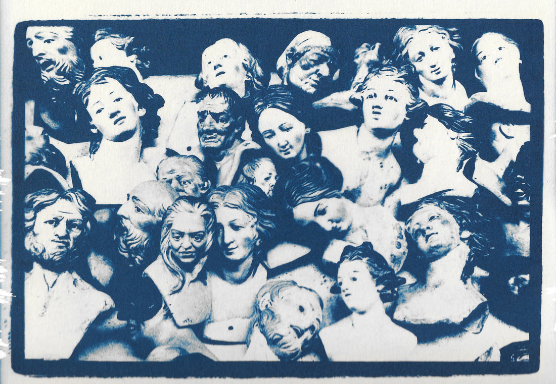 alchemical process photography cyanotype doll heads